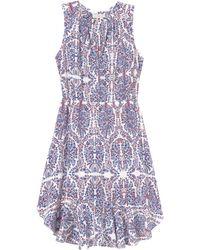 Rebecca Taylor Paisley Ruffle Dress - Lyst