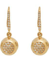 Aurelie Bidermann Bell Drop Earrings gold - Lyst