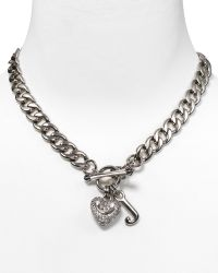 Juicy Couture - Pavé Heart Starter Charm Necklace  - Lyst
