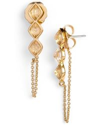 Rachel Zoe - 'prestley Pyramid' Chain Earrings - Lyst