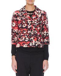 Marni Poppy Floral-print 34-sleeve Jacket - Lyst