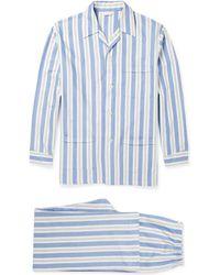 Derek Rose Striped Cotton Pyjama Set - Lyst