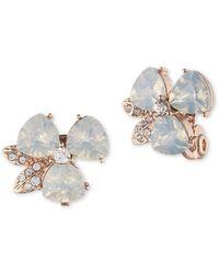Anne Klein - Faux Opal Flower Clip-on Earrings - Lyst