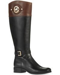 Michael by Michael Kors Colorblock Riding Boots - Lyst