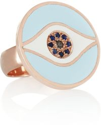 Iam By Ileana Makri - Dawn Rose Gold-Plated, Sapphire And Diamond Ring - Lyst