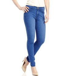 Current/Elliott Medium Wash The High Waist Ankle Skinny Jeans - Lyst