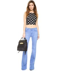 Joa Polka Dot Crop Top - Black/White - Lyst