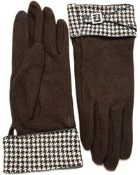Lauren by Ralph Lauren - Houndstooth Gloves - Lyst