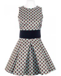 Fausto Puglisi Silk Geometrical Print Silk Dress - Lyst