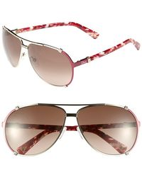 Dior Women'S 'Chicago' 63Mm Metal Aviator Sunglasses - Light Gold - Lyst