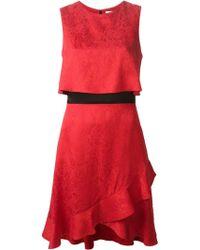 Prabal Gurung Ruffled Hem Jacquard Dress - Lyst