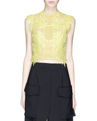Erdem 'Caissa' Guipure Lace Cropped Top yellow - Lyst