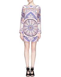 Emilio Pucci Geometric Print Silk Dress - Lyst