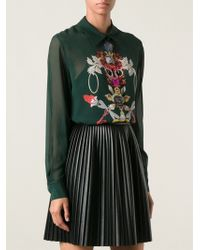 Mary Katrantzou Gala Sheer Blouse - Lyst
