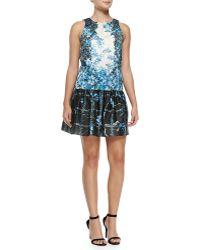 Tibi Sidewalk Floral Dropped-waist Dress - Lyst