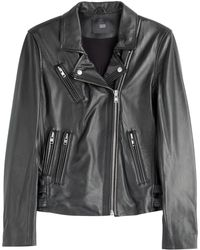 Steffen Schraut Vintage Leather Biker Jacket - Lyst