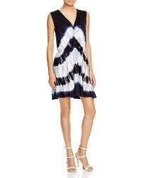 Cirana - Tie Dye Faux Wrap Dress - Lyst