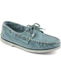 Sperry Top-sider A/O 2-Eye Colorwash Denim Boat Shoes - Lyst