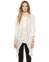 Haute Hippie Zebra Embellished Cloak  - Lyst