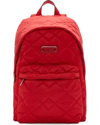 Marc By Marc Jacobs - Red Quilted Backpack - Lyst