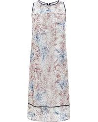 Suno Marker Floral Mesh Tank Dress - Lyst
