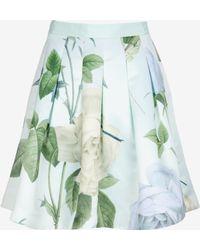 Ted Baker Pleated Distinguishing Rose Skirt - Lyst
