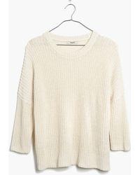 Madewell Shaker Sweater - Lyst