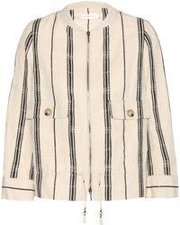 Tory Burch Debbie Striped Jacket - Lyst