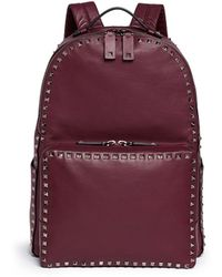 Valentino 'Rockstud' Medium Leather Backpack - Lyst