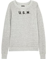 NLST | Grey Printed Cotton Sweatshirt | Lyst