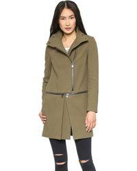 J Brand | Anise Zip Off Coat Alpine | Lyst