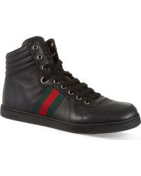 Gucci Coda Hi Top Trainers Black - Lyst