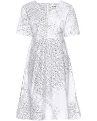 Jil Sander Tender Printed Cotton Dress - Lyst