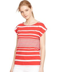 Lauren by Ralph Lauren Multi-Striped Bateau Shirt - Lyst
