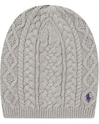 Ralph Lauren Aran Slouchy Hat - Lyst