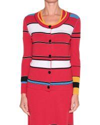 Sonia Rykiel Striped Cashmere Cardigan - Lyst