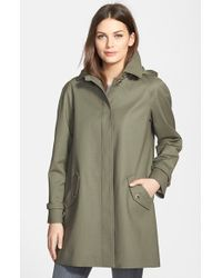 Pendleton Women'S 'Joshua Tree' Hooded Fly Front Raincoat - Lyst