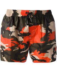 DSquared² Printed Swim Shorts - Lyst