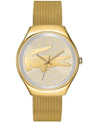 Lacoste Women'S Valencia Gold Ion-Plated Stainless Steel Mesh Bracelet 38Mm 2000811 - Lyst