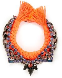 Joomi Lim 'Rebel Romance' Crystal Chain Braid Bracelet