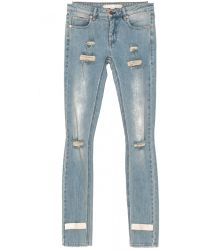 Off White C/o Virgil Abloh Jeans Skinny Fit Destroyed 5 Tasche Lavaggio Chiaro blue - Lyst