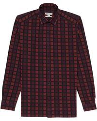 Reiss Alberto Graphic Check Shirt - Lyst