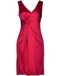 Versace Red Short Dress - Lyst