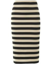 Burberry Prorsum   Striped Pencil Skirt   Lyst