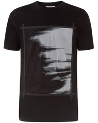 Helmut Lang Ghost Print Mesh T-Shirt - Lyst