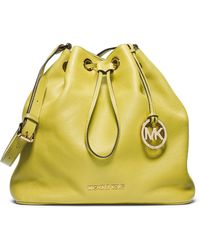 MICHAEL Michael Kors - Jules Leather Large Drawstring Shoulder Bag - Lyst