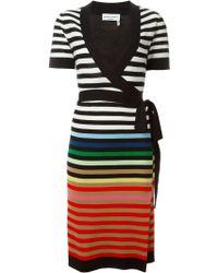 Sonia Rykiel   Striped Wrap Dress   Lyst