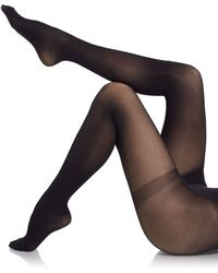 Saks Fifth Avenue Black Label - Solid Opaque Tights - Lyst