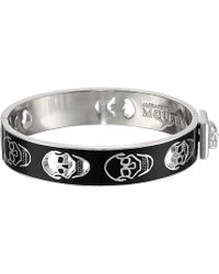 Alexander McQueen Pierced Skull Bangle - Lyst