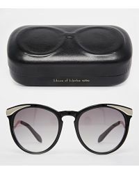 House Of Harlow Mia Black Sunglasses - Lyst
